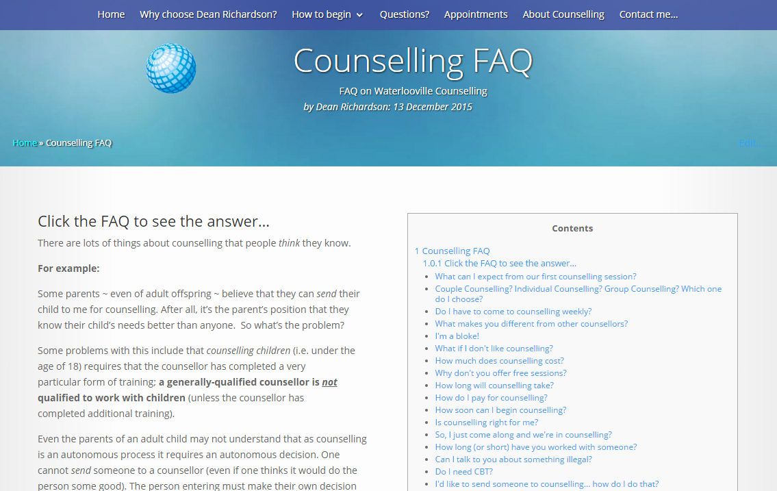 Questions on Widley & Purbrook Counselling Services